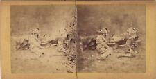 Scène de genre Jeux d'enfants GuerrePhoto Stereo Vintage Albumine c 1865