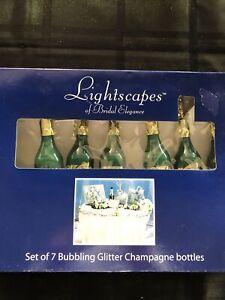 Lightscapes Of Bridal Elegance Set Of 7 Bubbling Glitter Champagne String Lights