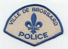Ville de Brossard Police, Quebec, Canada HTF Vintage Uniform/Shoulder Patch