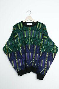 Vintage crazy print pattern JEFF SAYRE jumper