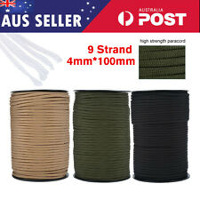 100m 550 Paracord Parachute Cord Lanyard Mil Spec Type III 9 Strand Hiking Rope