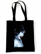 VAMPIRE GIRL TOTE / SHOULDER BAG - Gothic Horror Fangs Twilight Tattoo Goth Emo