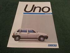 1987 Fiat UNO SELECTA CVT - FRENCH FOLDER BROCHURE