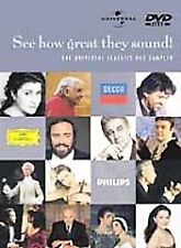 See How Great They Sound (DVD, 2001) Carreras, Domingo Pavarotti BRAND NEW