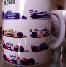 Ayrton Senna Tribute all his f1 cars,Lotus  MUG