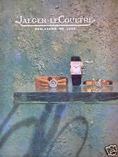 PUBLICITÉ MONTRE JAEGER-LECOULTRE HORLOGERIE DE LUXE - P.PRAQUIN
