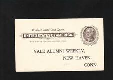 NEWSPAPER Preprint Postal Card circa 1900 Yale Alumni Weekly Subscription ZB