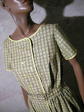 CHIC VINTAGE ROBE ANNEES 50 VTG DRESS 50s ZAZOU FIFTIES KLEID ABITO (40)