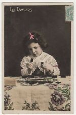 Les Dominos, Dominoes, France, Children RP Postcard, B613