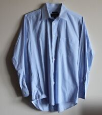 Nicole Miller NY mens sz 15.5 blue/white Long Sleeve Button Down Shirt Striped
