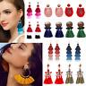 Fashion Bohemian Long Tassel Earrings Fringe Hook Dangle Drop Women Boho Jewelry