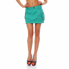 Minigonna da donna verde