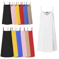 Summer Damen Träger Strappy V-Ausschnitt Partykleid Minikleid Abendkleid Plus