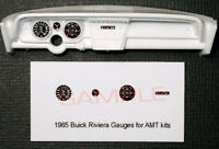 1965 BUICK RIVIERA GAUGE FACES for 1/25 scale AMT KITS