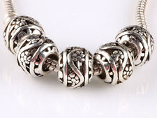 hot 5pcs retro Tibetan silver big hole beads fit Charm European Bracelet B#610