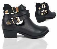 Unbranded Buckle Block Heel Casual Shoes for Women
