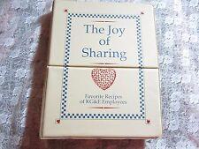 Vintage 1990 HC 3 Ring Binder The Joy of Sharing Cookbook, KG&E KS Gas Electric