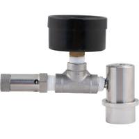 Stainless Ball Lock Spunding Valve w/ Pressure Gauge Keg Fermentasaurus Torpedo