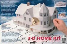 "Design Works 3-D Home Kit Construct a Paper Model Of Your Home 1/4"" Scale NEW"