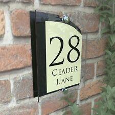 Black & Cream House Address Plaque Door Sign Numbers ARCA5-28BVP