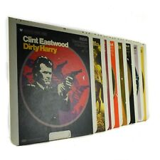 CED Laser Movie Disc Clint Eastwood Dirty Harry Dollars Alcatraz Which Way Lot