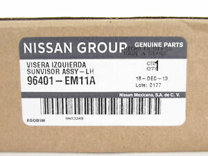 Genuine OEM Nissan 96401-EM11A Driver Side Sun Visor Assy 2007-2012 Versa