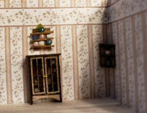1:144 Scale Miniature Decorative Curio Cabinet Wall Shel and Corner Shelf 3 PC