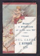 CALENDARIETTO 1897 CAFFÈ L'AURORA - VENEZIA ? ORARIO TRENI  old calendar