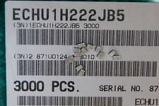 300pcs ECHU1H222JB5 Stacked PPS film capacitors 2,2nF 50V 5% size 805 Panasonic
