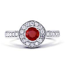 Engagement Cluster Round Not Enhanced Fine Gemstone Rings