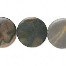 Natural Gemstone Hand Polished Beads Micro Cut 4-6mm Coin in Various Stone