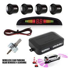 Car Parking Rear Reversing 4 Sensors Buzzer Radar LED Display Audio Alarm Kit