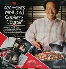 Vintage - Ken Hom Wok & Cookery Course - Wok, Lid, Recipe Cards & Audio Cassette
