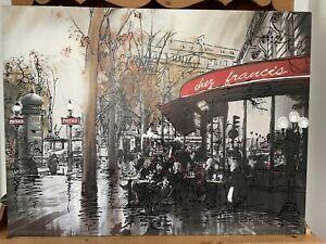 Paul Kenton Chez Francis Limited Edition Canvas