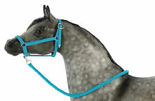 Model Horse Halter and Lead Rope Neon Blue. Fits Traditional Sized Breyer