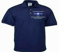 GHAZNI AIRPORT ENDURING FREEDOM USAF EMBROIDERED LIGHTWEIGHT POLO SHIRT