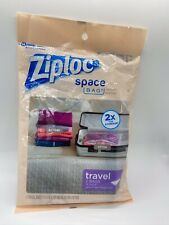 Ziploc Space Bag Travel Bags - Poly Pack 2 Pack BRAND NEW & SEALED
