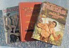 Burroughs TARZAN & the FORBIDDEN CITY, & CITY OF GOLD, & LOST SAFARI 3 HCs