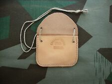 WWII Case Pouch ID Dog Tag Wehrmacht Soldier leather original german reenactor