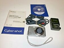Sony Cyber-Shot DSC-W290 12.1mp Digital Camera Silver - Manual, Cords, Case