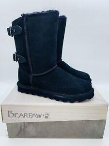 BEARPAW Women's Clara Suede Mid Calf Boots NAVY - choose size
