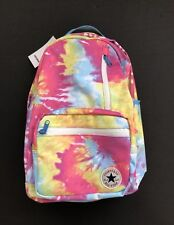 Converse Tie Dye Backpack Chuck Taylor All-Stars Unisex Bag w Laptop Pocket Pink