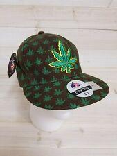 Marijuana Hat Baseball Cap Pot Leaf Kush Weed Chronic 420 Cannabis Fitted Size 7
