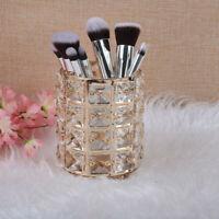 Metal Crystal Makeup Brush Holder Storage Tube Eyebrow Cosmetic Pens Organizer ❤