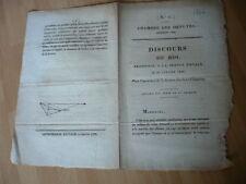 DISCOURS DU ROI 31 JANVIER 1828 POUR L OUVERTURE DE LA CESSION DES 2 CHAMBRES