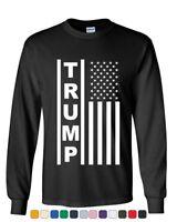 Trump Flag MAGA Republican Long Sleeve Tee President USA Political