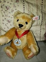 STEIFF Club Edition 2002 Decade Teddy Bear 10 in Blond Mohair Plush EAN 420320