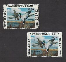 Nj2 & Nj2A - New Jersey State Duck Stamp. Res & Non Res. Singles. Mnh. Og.