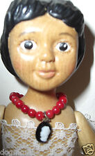 HITTY Doll Jewelry Genuine Coral Beads Necklace & Cameo