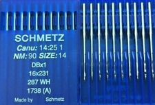 SCHMETZ DBX1 287WH CANU:14:25 1 NM:90 SIZE:14 INDUSTRIAL SEWING MACHINE NEEDLES
